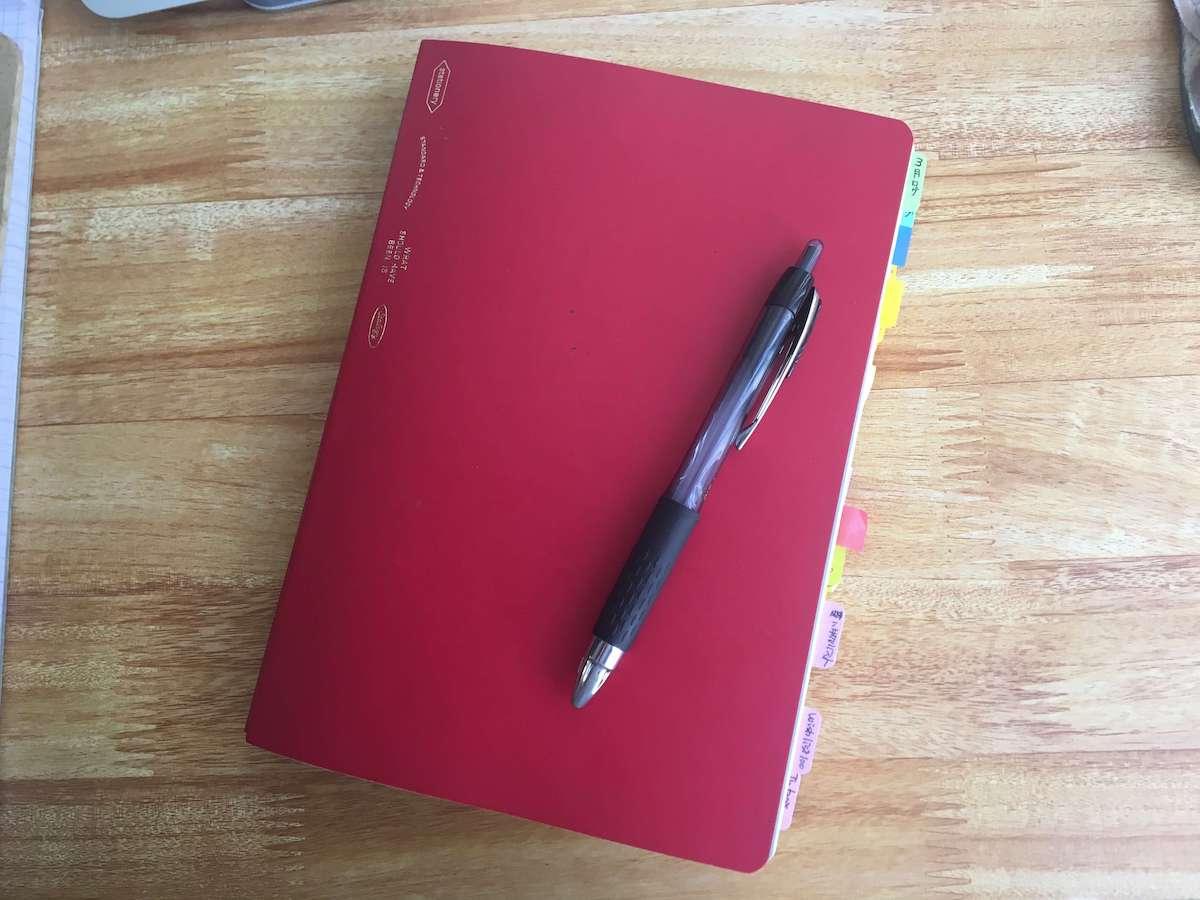 バレットジャーナルのノートとペン